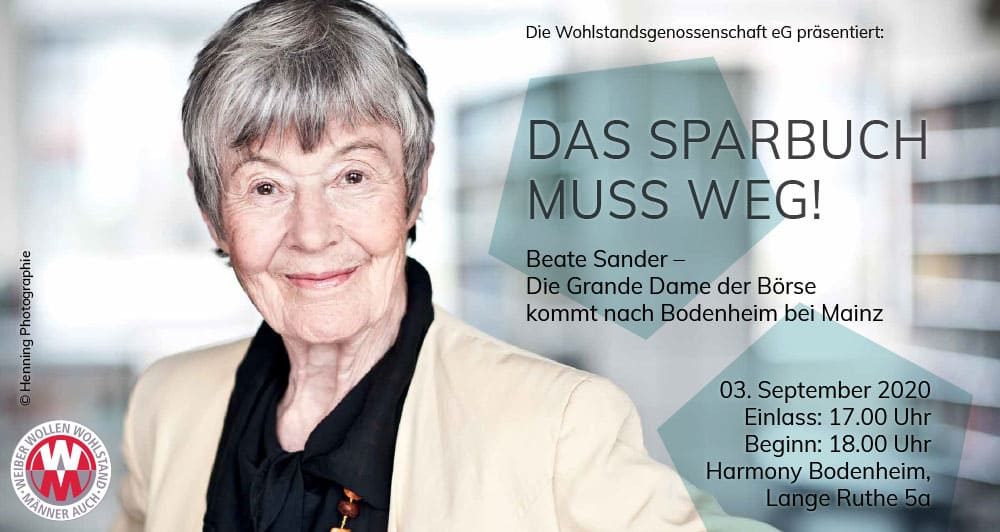 Beate Sander – Die Grande Dame der Börse am 3. September in Mainz
