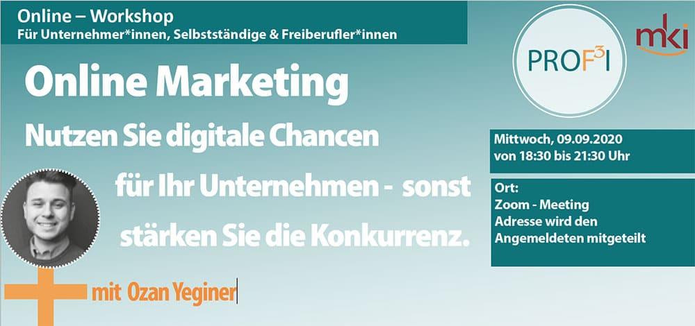 Online Marketing Workshop mit Ozan Yeginer
